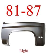 81 87 Chevy Right Front Fender, Truck, Suburban, Blazer, Assembly 0851-006