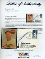 Walt Alston PSA DNA Coa Autograph Hand Signed FDC Cache With 1969 Topps Card