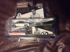 Greenlight Hollywood Hitch N Tow Elvis Cadillac 2015 Chevy Silverado and Trailer