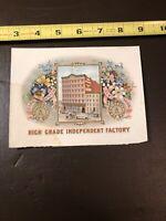 Original Mini Cigar Box Label- Carl Upmann- High Grade Independant Factory-