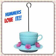 NEW CUTEST SWEET TEA HUMMINGBIRD FEEDER 6 FEEDING PORTS * HUMMERS LOVE THIS ONE!