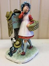 "Norman Rockwell Figurine Titled ""No Swimming"""