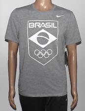 MEN'S NIKE BRASIL OLYMPIC T-SHIRT SIZE LARGE DRI-FIT GRAY, WHITE 801178 063 NWT