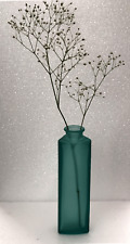 "Ikea Blue Frosted Glass 8"" Bottle Vases"