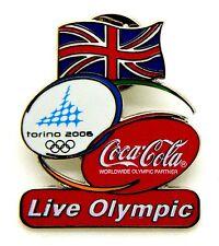 Pin Spilla Olimpiadi Torino 2006 - Coca Cola Flag UK