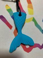 Chewelry Sensory Chews Autism ASD Necklace Chewlry ADHD SEN Mermaid Tail Blue