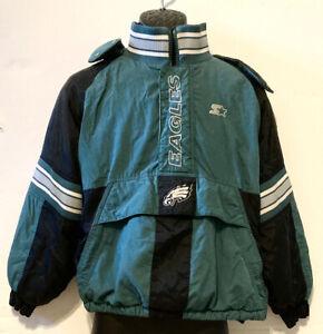 Vintage Philadelphia Eagles NFL Proline Youth Starter Jacket, Hooded - Med