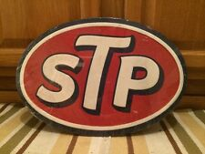 Embossed STP Pump Petroleum Motor Oil Texaco Sinclair Mobil Can Racing Man Wall