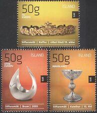 Iceland 2012 Icelandic Design/Silver/Chalice/Crown/Bowl/Arts/Craft 3v set n42503
