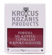 Greek Organic Herbal Tea Collection with Krocus Kozanis 10 x1.8gr!!!