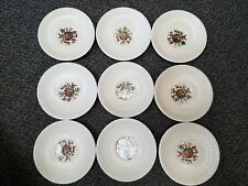 Lot of 9 Wedgwood Edme Conway AK8384 Saucer Plates Replacement