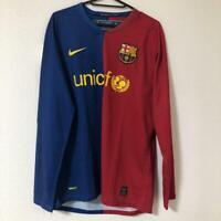 2008-2009 FC Barcelona Barca Jersey Shirt Camiseta Home Nike L/S Long Sleeve M