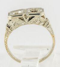 EDWARDIAN TWO STONE DIAMOND RING MOUNTING 18K WG
