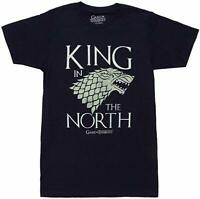 Game Of Thrones KING IN THE NORTH Stark Direwolf T-Shirt Navy NWT S-3XL Official