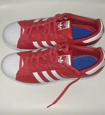 Adidas Superstar Men's Size 13 - Red and White - MISSING INSOLES.
