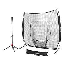Baseball Softball Fordable Travel Tee Duty Steel Frame w/7'x7' Practice Net
