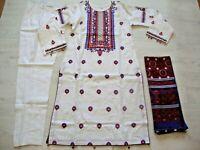 AJRAK Lawn Stitched Embroidered pakistani indian salwar kameez reduced £28