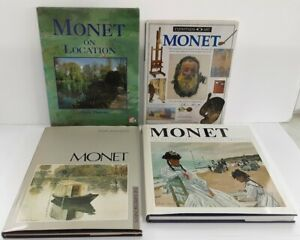 Book Collection of Claude Monet 4 Hardback Books with Dust Jackets Job Lot