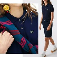 LACOSTE Polo Shirt UK10 EU38 *BNWOT* Blue Cotton Croc Logo