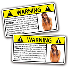 Yamaha horsepower Motorcycle Passenger Warning Sticker R1 R6 FXR YZF Decal Vstar
