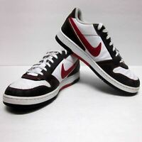 NIKE 2011 AIR WHITE RED BLUE LEATHER ATHLETIC SNEAKERS (SZ 11) EUC SWOOSH JORDAN
