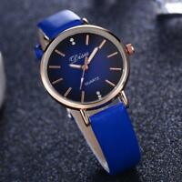 Fashion  Women Retro Design Leather Band Alloy Analog Quartz Wrist Watch Watches