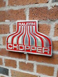 Raleigh Chopper Sign Red cast aluminium bike cycle Nottingham mk1 mk2 VAC261