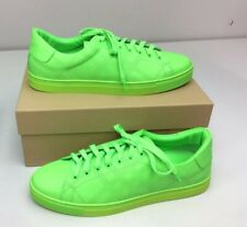 Burberry Men's Albert Perforated Check Fluo Sneaker Neon Green Size 46 US 13 D