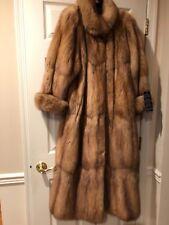 SABLE RUSSIAN 2018-2019 ROYAL BARGUZIN NEW TAGS Brown Silver coat Brooch500g$58K