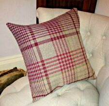 """Cushion Cover Made in Next Cream Red Green Grey Check Brushed Cotton 16/"""""""