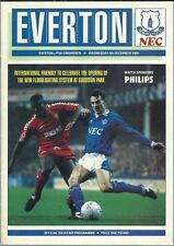 EVERTON V PSV EINDHOVEN 1989/90  INTERNATIONAL FRIENDLY MATCHDAY PROGRAMME