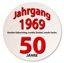 10 Stück Bierdeckel 50. Geburtstag, Deko Party Geschenkidee Geburtsjahr 1969 NEU