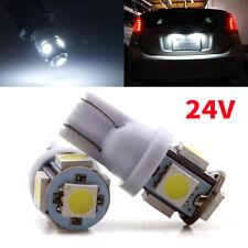 1000Pcs 24V T10 Wedge 5-SMD 5050 White LED Light bulbs W5W 2825 158 192 168 194