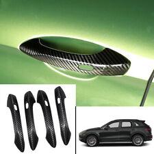 FOR Porsche Cayenne 18-2020 Carbon Fiber exterior outside door handle cover trim