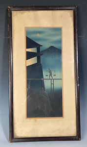 Rare Japanese Shin Hanga Woodblock Print In The Manner Of Kawase Hasui Unsigned