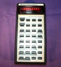 NATIONAL SEMICONDUCTOR INTERNATIONAL COMPUTER red LED calculator 1977