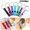 Camping Hiking Survival Whistle Aluminum Whistle With Keyring Outdoor EDC Tools