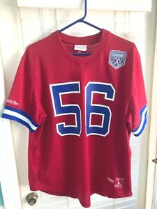 """AWESOME! """"LAWRENCE TAYLOR"""" THROWBACK MITCHELL & NESS SUPERBOWl NFL JERSEY!"""