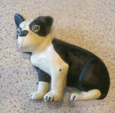 Antique Sitting Boston Terrier Wedge Door Stop Cast Iron by Spencer Foundry, Ct