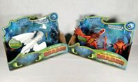 Lot Of 2 How To Train Your Dragon: Snotlout & Hookfang/Hiccup & Lightfury Figs