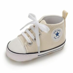 BABY CONVERSE SHOES CLASSIC SPORTS SNEAKERS NEWBORN BABY BOYS GIRLS PRINT STAR F