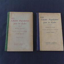 Livre scolaire Chants Populaires pour les écoles M Bouchor 1er et 2ème série