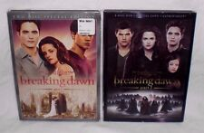 Twilight Saga BREAKING DAWN - PART 1 & 2 Movie Collection 4-Disc 2-DVD Set Lot