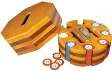 Wood Poker Chip Caddy with Cover - ex Museum