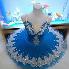 Kids Girl Pro Tutu Lyrical Dress Ballet Ice Skating Dance Embroidery Size L