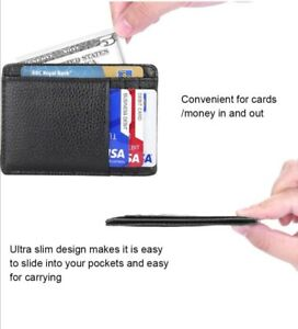 Men's Wallet, Minimalist Credit Card Holder, Holds up to 7 Cards and Bank Note