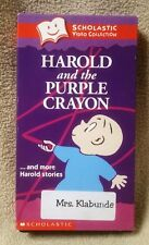 HAROLD & THE PURPLE CRAYON Scholastic Video Collection VHS Tape Crockett Johnson