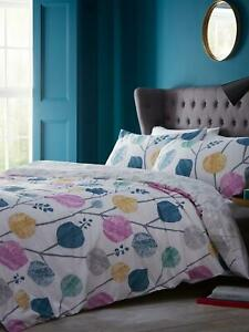 JEFF BANKS STUDIO * ABSTRACT LEAF * DOUBLE DUVET SET, NEW IN WRAPPER