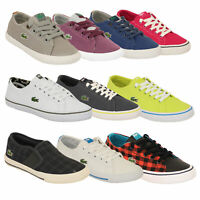 Boys LACOSTE Trainers Kids Pumps Marcel Chunky Shoes Lace Up Youth Canvas New