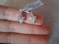 Cullinan Topaz lever back earrings, 2.17 carats, 2.34 grams of 925 Sterling Silv